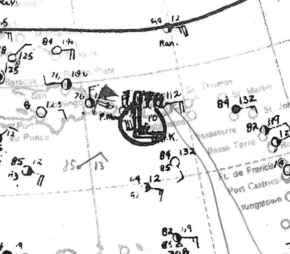 San Ciprien Hurricane Analysis 27 Sept 1932