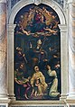 San Lio (Venice) - Pale d'altare - Gloria di Maria con i San Martino vescovo, San Francesco, San Domenico, Santa Marina, San Marco Evangelista, San Giuseppe.jpg