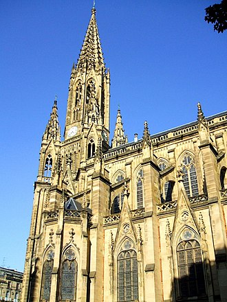 San Sebastián Cathedral - View of a facade of the Cathedral
