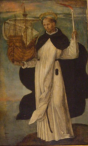 Peter González - 16th-century painting of the Blessed Peter González, by Alejo Fernández, in the Alcázar of Seville