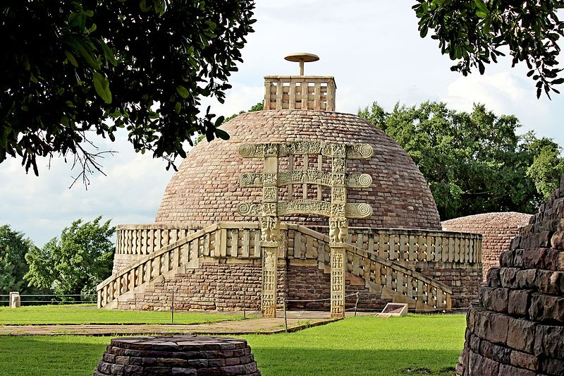 File:Sanchi Stupa No.2 Front view1.jpg