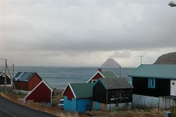 Sandvík with Lítla Dímun in the back ground