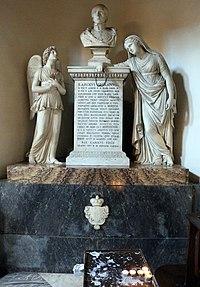 Sant'andrea al quirinale, interno, tomba re carlo emanuele.JPG