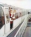 Santa Claus on the Seattle Center Monorail, circa 1970 (38255837695).jpg