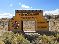 Santo Domingo Pueblo sign
