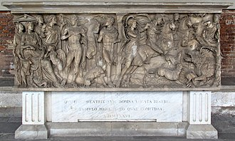 Beatrice of Lorraine - Beatrice's sarcophagus, now located in the Campo Santo at Pisa.