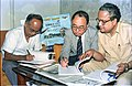 Saroj Ghose And Goto Executive Signing MOU Of Goto GSS-Helios And Astrovision-70 Projection System For Science City - NCSM - Calcutta 1995-06-15 508.JPG