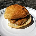 Sausage roll - Bradleys Original Tea Hut at High Beach, Essex, England 2.jpg