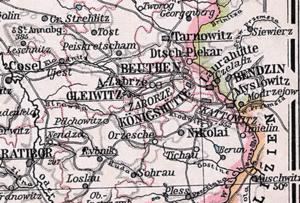 Upper Silesian Coal Basin - The Upper Silesian Coal Region around Kattowitz (Katowice) in 1905