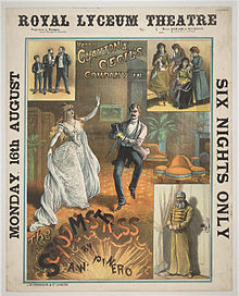theatre poster depicting a melange of characters