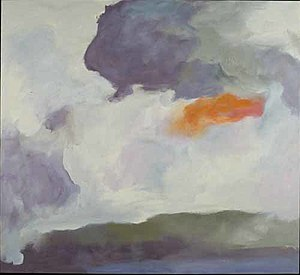 Jon Schueler - Grey Rain Over Silver Black, 1982