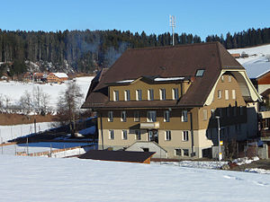 Oberthal, Switzerland - Oberthal village schoolhouse