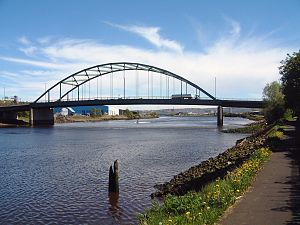 Benwell and Scotswood - Scotswood Bridge across the River Tyne.