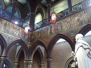 Scottish National Portrait Gallery - The William Hole entrance hall frieze, 1898