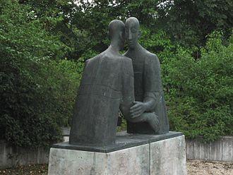 Sculpture deux hommes