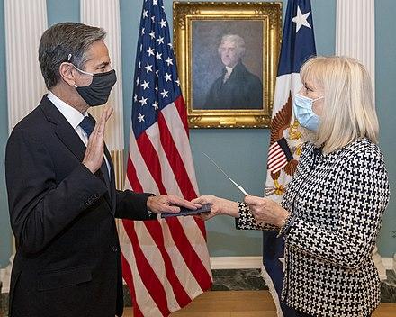 Secretary Blinken is Sworn in as Secretary of State %2850878397918%29., From WikimediaPhotos