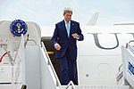 Secretary Kerry Deplanes at the Tbilisi International Airport in Georgia (28125251785).jpg