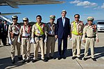 Secretary Kerry Poses For a Photo With a Group of Laotian Traffic Police Before Departing from Wattay International Airport in Vientiane (28483242651).jpg