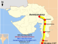 Shatabdi Express and Double Decker Express (Mumbai - Ahmadabad) Route map.png