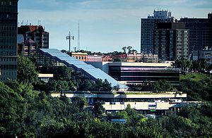 Shaw Conference Centre - Shaw Conference Centre on the North Saskatchewan River valley