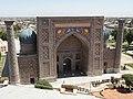 Sher Dor Madrasa from Ulughbek Minaret, The Registan, Samarkand, Uzbekistan (6134557746).jpg