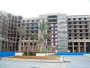 Sheraton Hotel Tripoli - Main facade of the hotel (under construction as of July 2012).