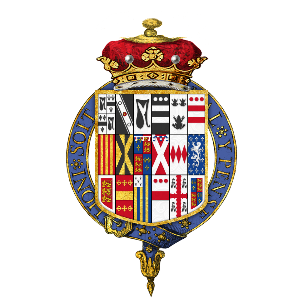 Shield of arms of Francis Rawdon-Hastings, 1st Marquess of Hastings, KG, PC