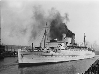 RMS Empress of Canada (1928) - Image: Ship. Empress of Canada B An Q P48S1P15857