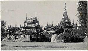 Shweinbin Monastery - Shweinbin Monastery, Mandalay, in about 1900.