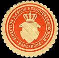 Siegelmarke Direction der Grossherzoglichen Kunstgewerbeschule - Karlsruhe W0226565.jpg