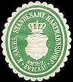 Siegelmarke Königlich Sächsisches Standesamt Hartmannsdorf - Amtshauptmannschaft Zwickau W0252050.jpg