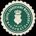 Siegelmarke Königlich Sächsisches Standesamt Naundorf - Amtshauptmannschaft Oschatz W0252217.jpg