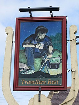 Sign for the Travellers (sic) Rest - geograph.org.uk - 747230