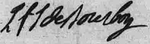 Signature of Louis François Joseph de Bourbon, Prince of Conti at the baptism of the Duke of Berry in August 1785.png