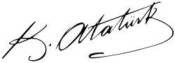 Signature of Mustafa Kemal Atatürk.svg