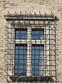 Simontornya Castle. Listed 8725. Old tower. Barred window. - Hungary.JPG