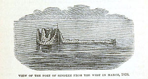Sindri Fort - Remains of Sindhri fort in 1838