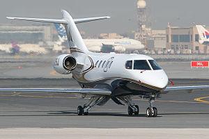 SyberJet SJ30 - A Sino Swearingen SJ30-2 seen at the 2007 Dubai Airshow.