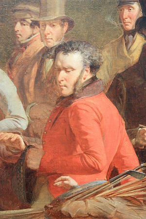 Anstruther baronets - Sir Ralph Abercromby Anstruther (detail from The Golfers by Charles Lee, 1847)
