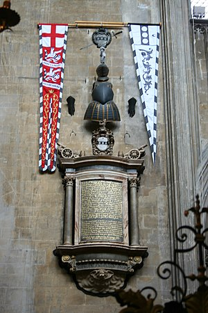 William Penn (Royal Navy officer) - Sir William Penn's memorial in the church of St. Mary Redcliffe, Bristol, England.