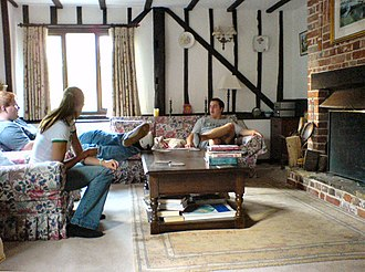 Living room - A Tudorbethan sitting room in the UK
