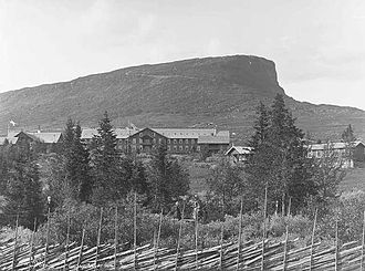 Gausdal - Skeikampen mountain - the outline is the inspiration for the municipal arms.