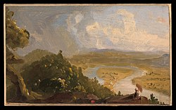 Sketch for View from Mount Holyoke, Northampton, Massachusetts, after a Thunderstorm (The Oxbow) MET DP325433.jpg