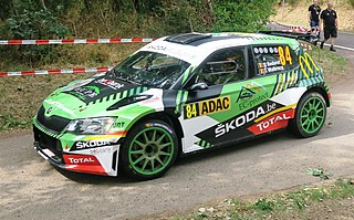 Škoda Fabia R5 rally car
