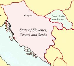 スロベニア人・クロアチア人・セルビア人国の位置