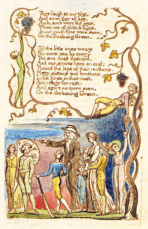 The Echoing Green - Image: Songs of Innocence and of Experience, copy C, 1789, 1794 (Library of Congress) object 14 (The Echoing Green)