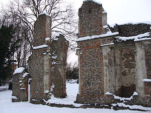 Richard Lee (engineer) - Ruins of Lee's house at Sopwell Priory