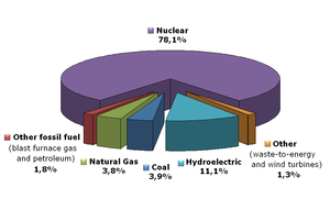 ... electricity in France in 2006; [3] nuclear power was the main source