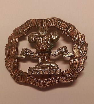 South Lancashire Regiment - Cap badge of the South Lancashire Regiment.
