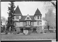 Southeast (front) elevation - Ivinson Mansion, 603 Ivinson Avenue, Laramie, Albany County, WY HABS WYO,1-LARAM,2-4.tif